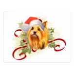 Postal del navidad de Yorkshire Terrier