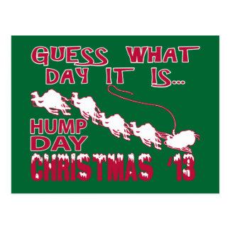 Postal del navidad del camello del día de chepa