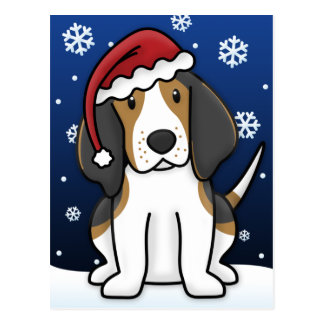 Postal del navidad del Coonhound del caminante de
