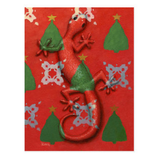 Postal del navidad del Gecko
