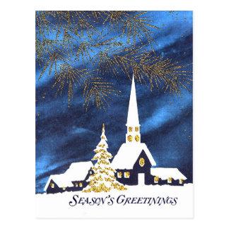 Postal del navidad del negocio de la iglesia Nevad