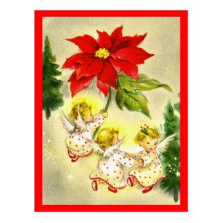 Postal del navidad del negocio de los ángeles del
