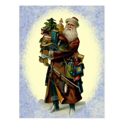 Postal del navidad del padre del vintage