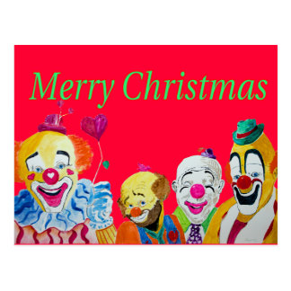 Postal del navidad del payaso