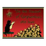postal del navidad del perdón y del amor