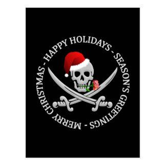 Postal del navidad del pirata - personalizar