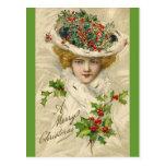 Postal del navidad del Victorian