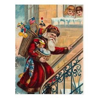 Postal del navidad del vintage