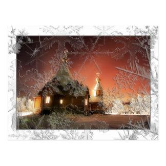 Postal del navidad Nevado