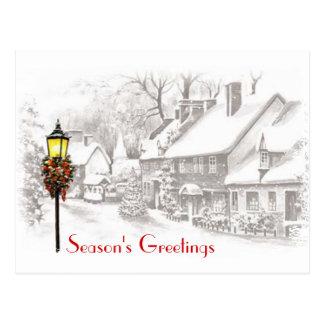 Postal del negocio de la ciudad del navidad