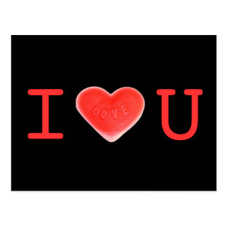 """Postal del negro """"amo U"""" del amor"""