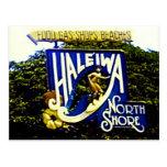 Postal del norte de Hawaii de la orilla de Haleiwa