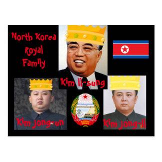 Postal del norte de los muchachos de Korea* Kim