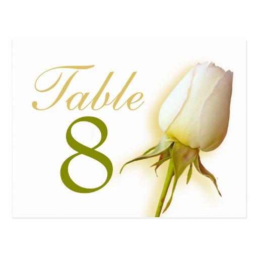 Postal del número 1-9 de la tabla del boda del bro