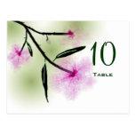 Postal del número de la tabla de la flor de cerezo