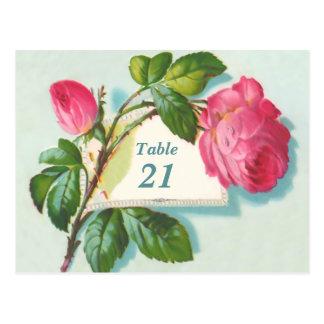 Postal del número de la tabla del vintage
