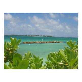 Postal del océano de Bahamas