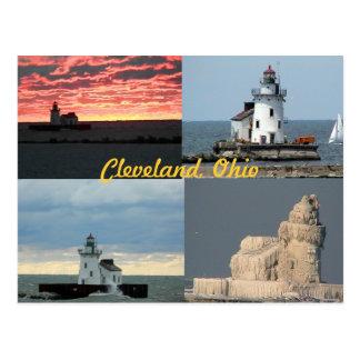 Postal del oeste escénica del faro (Cleveland, Ohi