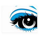 Postal del ojo azul
