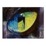 Postal del ojo de gato azul