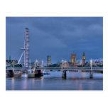 Postal del ojo y de Big Ben de Londres
