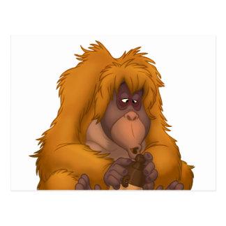 Postal del orangután del Maíz-Jarro-Playin'