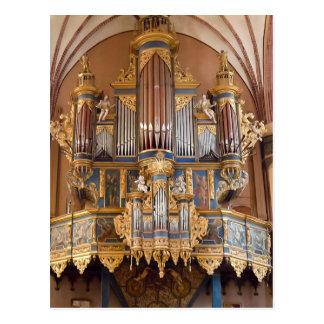 Postal del órgano de la catedral de Frombork