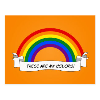 Postal del orgullo del arco iris de LGBT