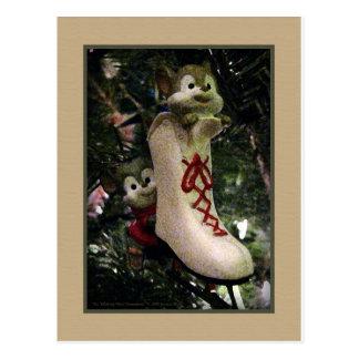 Postal del ornamento de los ratones del patinaje d
