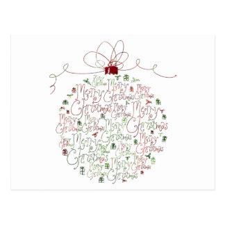 Postal del ornamento del navidad