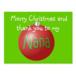 Postal del ornamento del navidad de Nana