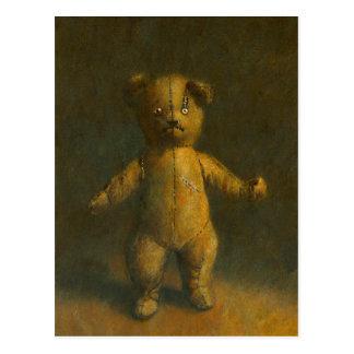Postal del oso de peluche del zombi