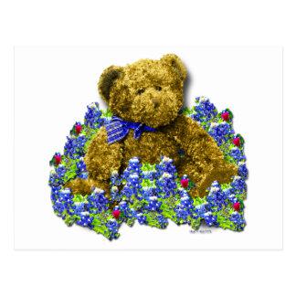 Postal del oso del Bluebonnet