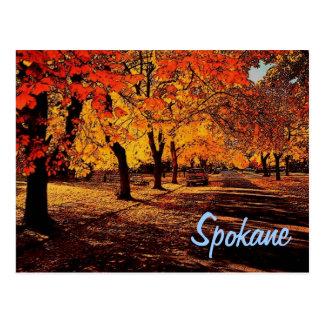 Postal del otoño de Spokane