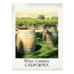 ¡Postal del país vinícola del estilo del vintage!