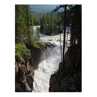 Postal del paisaje de Canadá del jaspe de Sunwapta