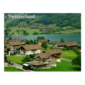 Postal del paisaje de Suiza