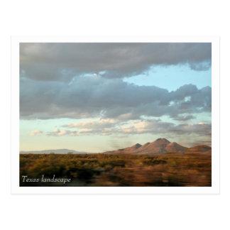 Postal del paisaje de Tejas