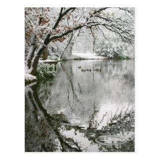 Postal del paisaje del invierno