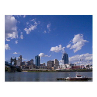 Postal del paisaje urbano de Cincinnati
