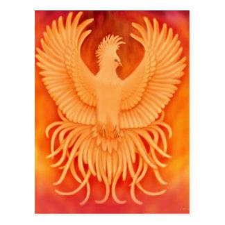 Postal del pájaro de Phoenix