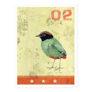 """Postal del """"pájaro verde"""""""