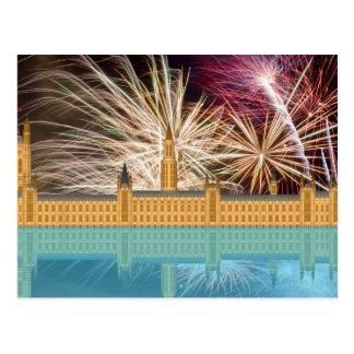 Postal del palacio de Westminster del horizonte de