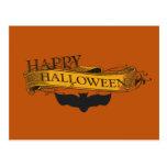 Postal del palo del feliz Halloween de la aparienc