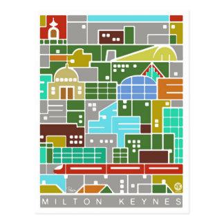 Postal del panorama de Milton Keynes