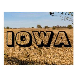 Postal del panorama del campo de maíz de IOWA Iowa
