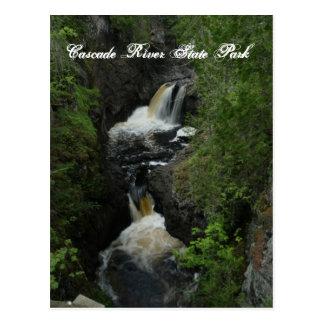 Postal del parque de estado del río de la cascada