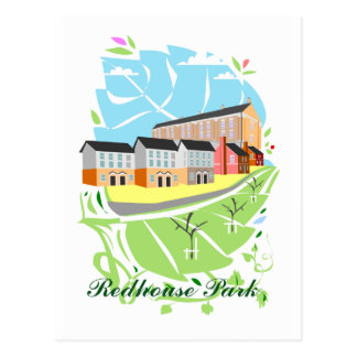 Postal del parque de Redhouse (Milton Keynes)