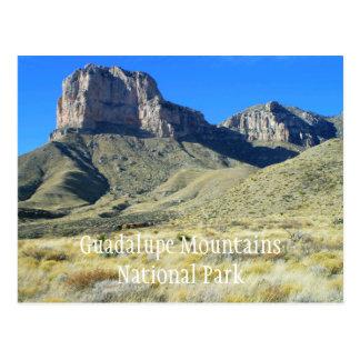 Postal del parque nacional de las montañas de Guad