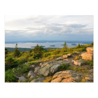 Postal del parque nacional del Acadia de la montañ
